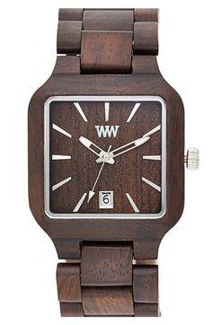 WeWOOD 'Metis' Square Wood Bracelet Watch, 38mm | Nordstrom