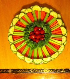 Color and crunchy vegetable tray