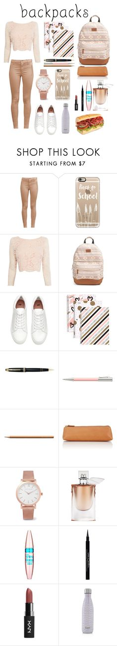 """#Backpacks #Back #To #School"" by vehapi-miralema ❤ liked on Polyvore featuring French Connection, Casetify, Coast, Rip Curl, Mead, Mont Blanc, Faber-Castell, Barneys New York, Larsson & Jennings and Lancôme"