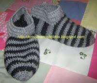 DE MIS MANOS TEJIDOS Y MAS...: Pantuflas a crochet paso a paso