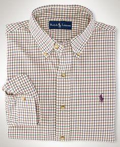 Polo Ralph Lauren Shirt, Classic-Fit Country-Check Shirt - Mens Shirts - Macy's