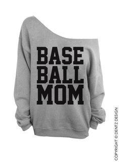 Need a Softball one Baseball Mom Oversized Off the Shoulder Sweatshirt by WifeyChic, $29.00
