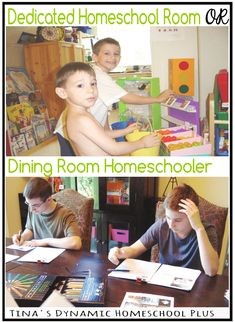 Dedicated Homeschool Room or Dining Room Homeschooler @ Tina's Dynamic Homeschool  Plus