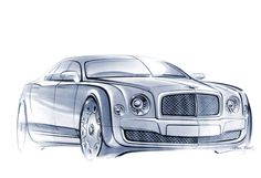 Bentley Mulsanne Sketch by Raul Pires Car Design Sketch, Car Sketch, Bentley Design, New Bentley, Bentley Rolls Royce, Bentley Mulsanne, Industrial Design Sketch, Layout, Transportation Design