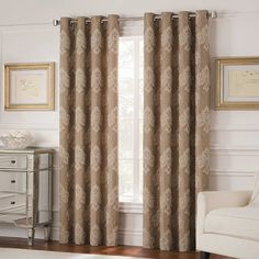 Valeron Belvedere 63-Inch Grommet Top Room-Darkening Window Curtain Panel in Spa