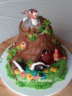 Forest Animals cake topper or small cake