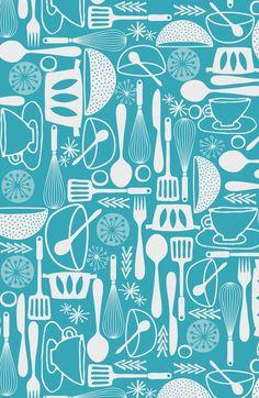 Turquoise Kitchen Print Teal Kitchen Art Decor Turquoise Kitchen Poster Teal Set Of Prints Set photo - 4