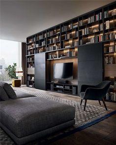 Poliform Booth | Interiors | Pinterest | Librerie e Soggiorno