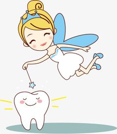 Vector,Hand Painted,Little tooth fairy,wing Oral Health, Dental Health, Dental Care, Tooth Fairy Pictures, Dentist Cartoon, Paint Vector, Foto Transfer, First Tooth, Teeth Care
