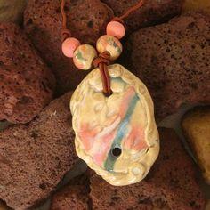 Oval Focal Porcelain Bead Set Earthenware, Stoneware, Handmade Beads, Terracotta, Porcelain, Ceramics, Christmas Ornaments, Holiday Decor, How To Make
