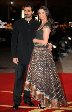 Mehr Jessia in a Tarun Tahiliani creation: love the style, not a fan if the fabric