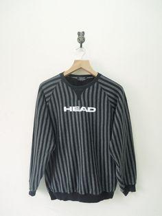 Vintage Head Stripes Sweatshirt Street Casual by RetroFlexClothing
