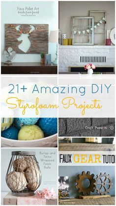 Who knew you could make so many cool things with styrofoam!! These are so awesome! Definitely pinning this!