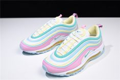 sports shoes eff05 f713e Women s Nike Air Max 97 Pink White-Yellow-Green 921826-016