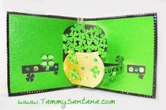 TammySantana.com: St. Patrick's Day Pop Up Card made with my Silhouette