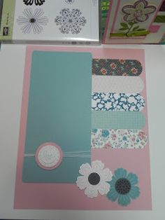 Twitterpated scrapbook page Stampin' Up!