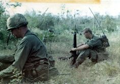 Taking a break during Operation Cedar Falls, 1967