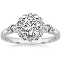 18K+White+Gold+Camillia+Diamond+Ring+ Needs a colored accent!(1/4+ct.+tw.)+from+Brilliant+Earth
