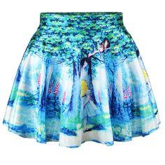 Ninimour- Sexy Retro Vintage Digital Print Skater Skirt... ($7.95) ❤ liked on Polyvore featuring skirts, bottoms, lullabies, cosmic skirt, vintage circle skirt, blue skirt, galaxy print skirts and vintage skirts