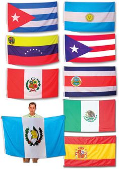 Full-Size Flags of Spanish Speaking Countries