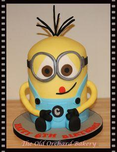 Tall minion cake Kevin I believe Minion Cakes Pinterest