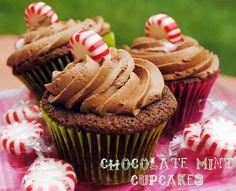 Chocolate Mint Cupcakes | Licious Food #chocolate #cupcakes #dessert