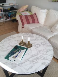 DIY MARBLE TOP COFFEE TABLE. Tutorial for how to make this mid ...