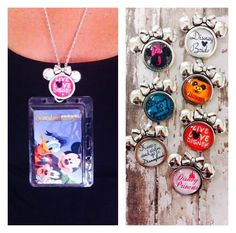 Items similar to Disney Annual Passholder Minnie Mouse Lanyard/Work ID Badge You Choose One Disney Design With Chain/Clear Protective Card Holder on Etsy Disneyland Annual Pass, Washer Necklace, Pendant Necklace, Disney Designs, Name Badges, Disney Theme, Id Badge, Minnie Mouse, Card Holder