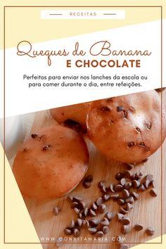 Queques de banana e chocolate - Conxita Maria - A Arrumadinha   Organização