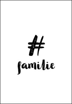 Emneknagg - Familie Plakat fra Plakatbar.no Siblings, Poster