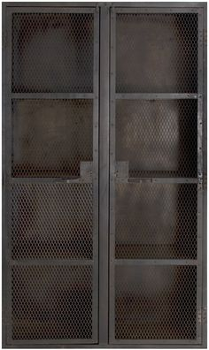 industrial cabinet good for holding smaller pieces as they dry Industrial Door, Industrial Office, Industrial Interiors, Modern Industrial, Industrial Furniture, Vintage Industrial, Cabinet Furniture, Diy Furniture, Furniture Design