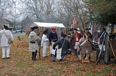 The rebel camp in Mill Race Village