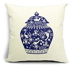 East Melody® Cotton Linen Square Decorative Throw Pillow Cover Cushion Case Pillow Case 18 X 18 Inches / 45 X 45 cm, Chinese Retro Style Blue and White (006) East Melody http://www.amazon.com/dp/B00ETPAO6W/ref=cm_sw_r_pi_dp_d0Lcvb1349E0E