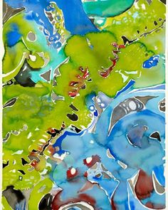 This painting, #Neriad, was inspired by washed up #seaweed forms on the beach on #CumberlandIsland, GA which is one of my favorite places on Earth. I have just made it into an edition of 10 prints with #JonathanSinger.   The prints arrive Friday the 27th and will not be available online until then, but please email me at isacattostudio@gmail.com if you are interested in one.  #IsaCattoStudio #watercolor #watercolorwednesday #painting #printedition #contemporaryart #art #artist  #colorado