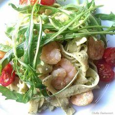 Rezept: Pasta mit Avocado-Feta-Creme und Chili-Garnelen Bild Nr. 43