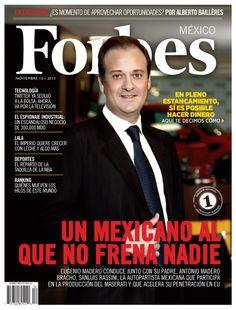 Noviembre: Un mexicano al que no frena nadie. (Edición de 1er aniversario). www.forbes.com.mx Marketing, Mexico, Digital, Movie Posters, Products, World, Make Money, Finance, Journaling