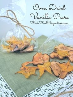 Oven Dried Vanilla Pears