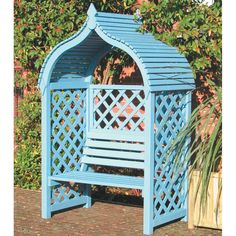 Get the fantastic Jaipur Arbour Pressure Treated Wooden Double Seat by Rowlinson Garden Products ltd online today. This popular product is currently available - purchase securely on Garden Figments 'The Online Garden Design Shop' today. Garden Arbour Seat, Garden Arches, Garden Trellis, Garden Planters, Garden Arbours, Terrace Garden, Arbor Bench, Wooden Garden Seats, Wooden Arbor
