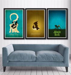 Vintage Disney Poster Set van MINIMALISTPRINTS op Etsy, $35.00