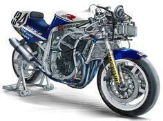 1988 Yoshimura art Suzuki Gsx R 750, Suzuki Bikes, Suzuki Cars, Suzuki Motorcycle, Motorcycle Art, Gsxr 1100, Sportbikes, Road Racing, Cool Bikes