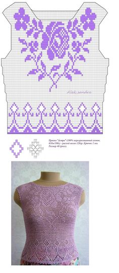 Beautiful top - crochet filet