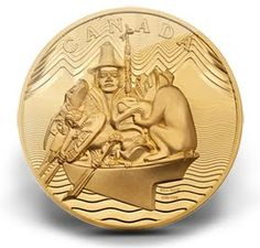 "Royal Canadian Mint issued 10 kilogram pure gold coin of Bill Reid's ""The Spirit of Haida Gwaii"" value $100,000.00"