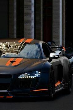 R8..... Matte Black with Orange Stripes. #FaureciaNAIAS2014