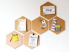 Love this geometric cork board for my new sewing room Guest Room Office, Office Decor, Corkboard Decor, Diy Projects For Couples, Small Space Interior Design, Idee Diy, Cork Crafts, Classroom Decor, Diy Bedroom Decor