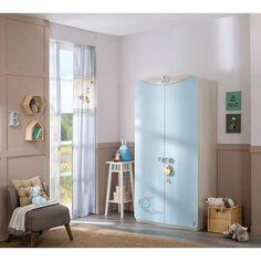 Armoire moderne à 2 portes ouvrantes pour chambre bébé