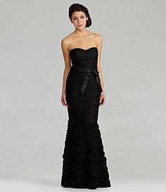 Rebekah Mikaelson's Dillard's Js Collections Strapless Ruched Gown #TheOriginals
