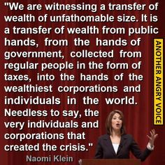 Transfer of wealth: our government giving tax money paid by regular people to the wealthiest corporations and individuals in the world. Are we okay with this? I'm not!