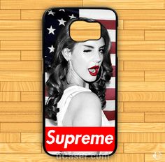 Lana Del Rey Supreme American Flag M Samsung Cases cheap and best quality. *100% money back guarantee