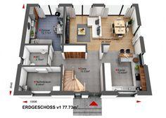 Hauspläne bungalow  Bungalow Grundrisse - Bungalow bauen - HäuserBauen.net | Hauspläne ...