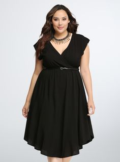 Plus Size Dolman V-Neck Dress